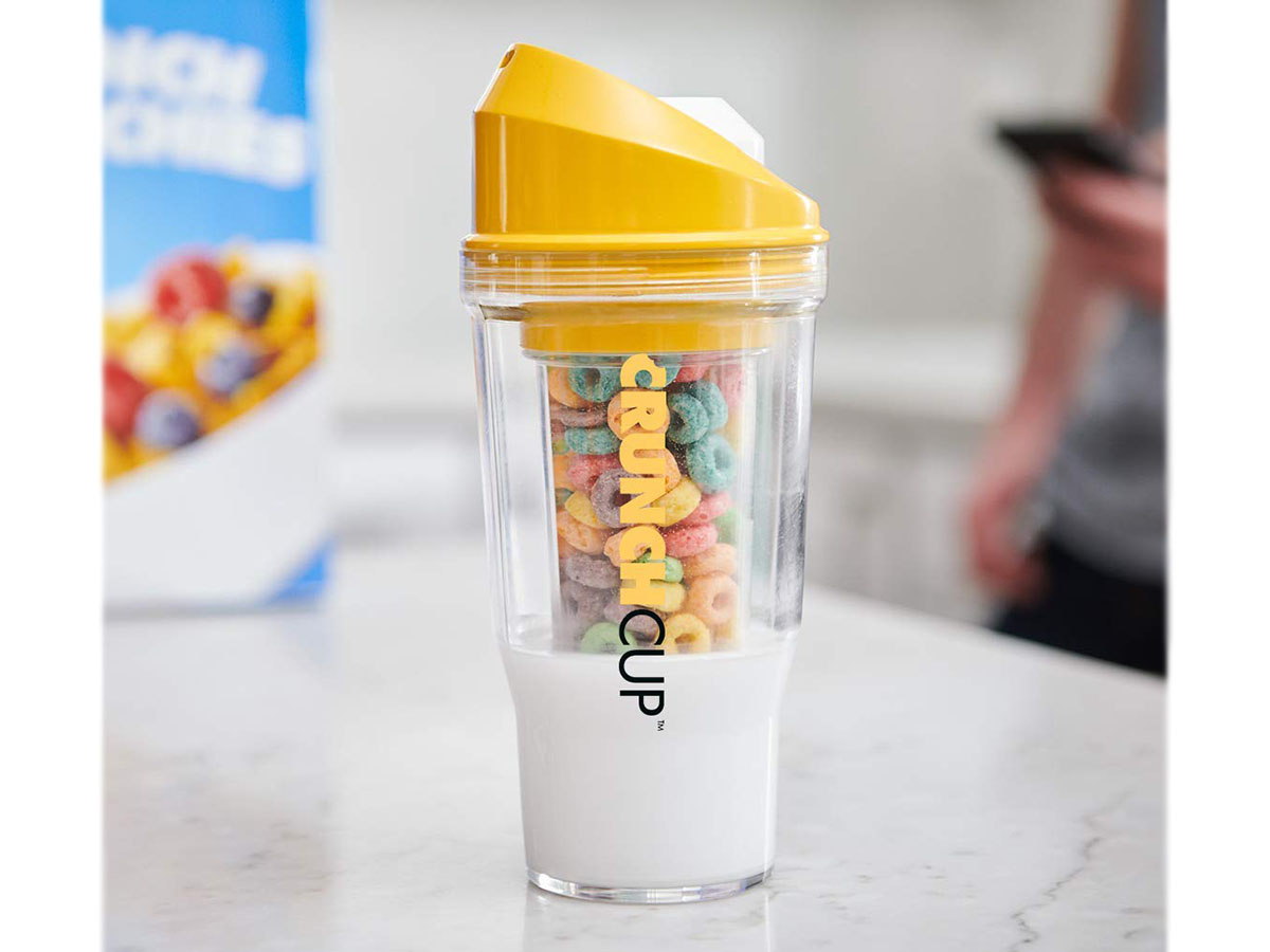 This cool to-go cup for cereal fiends