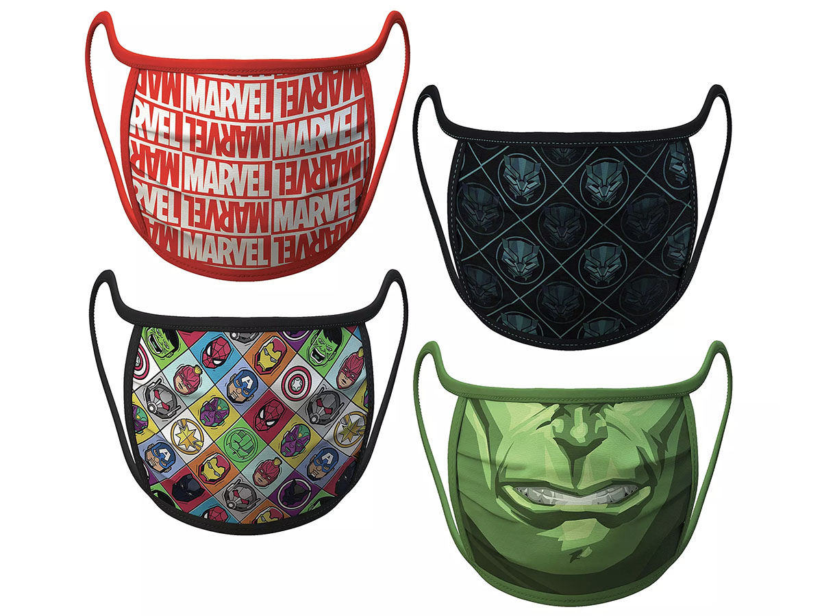 This set ofofficial Marvel face masks