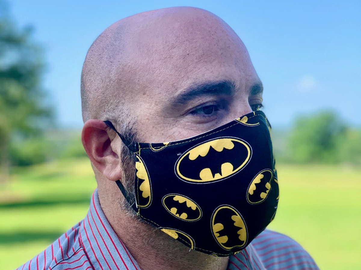 The only mask a modern-day Bruce Wayne needs