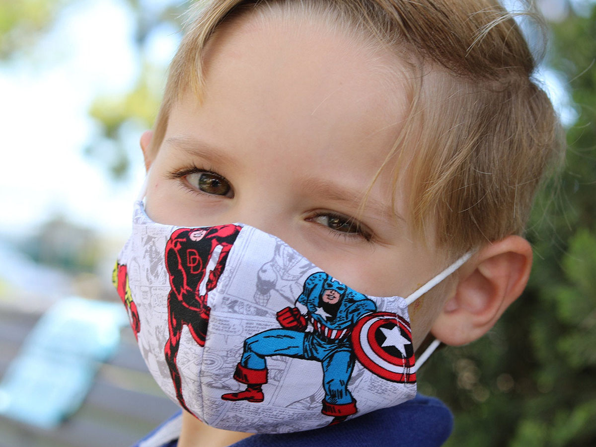 This great mask for young heroes in training