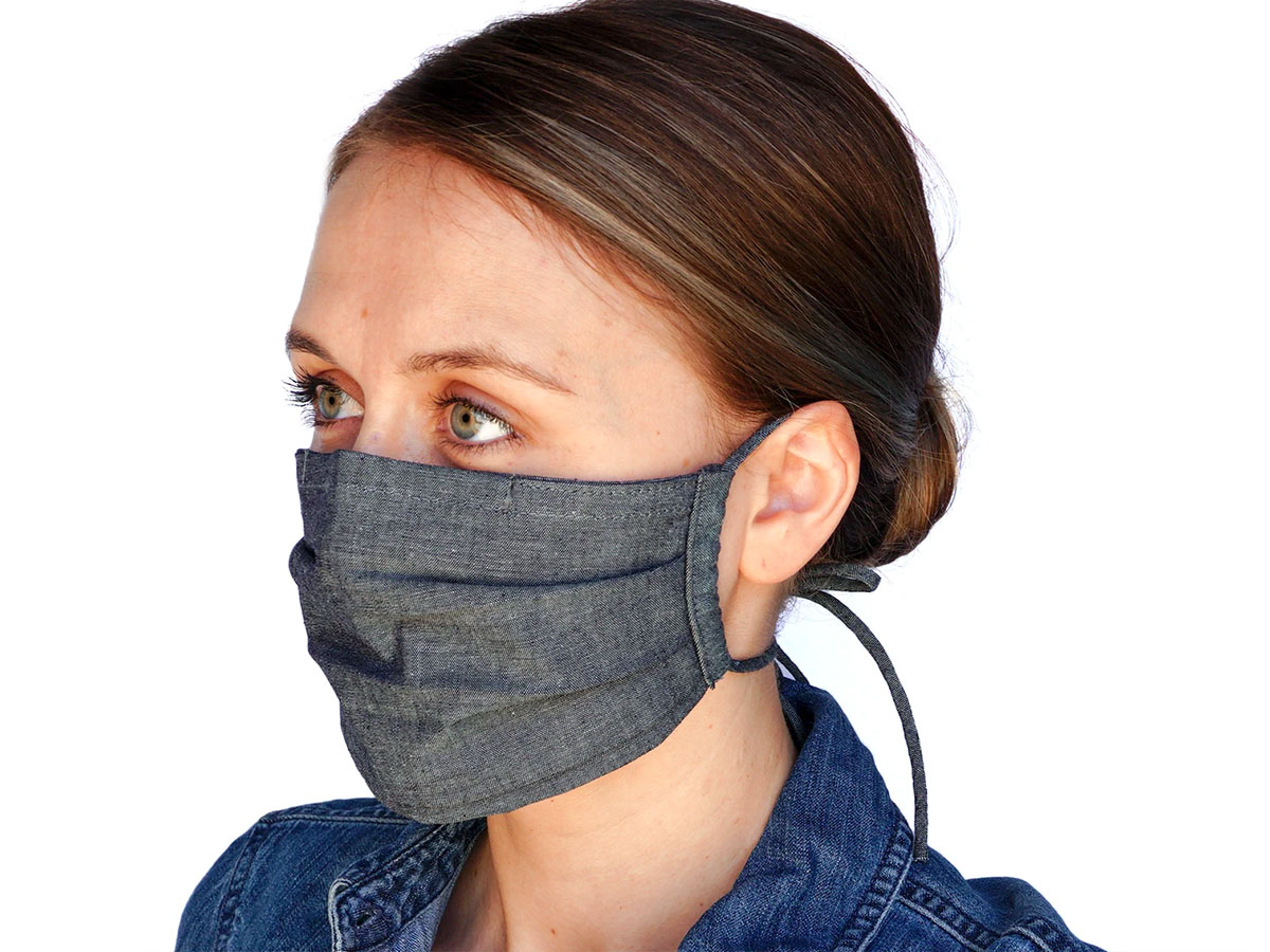 This mask with an added nose band for comfort