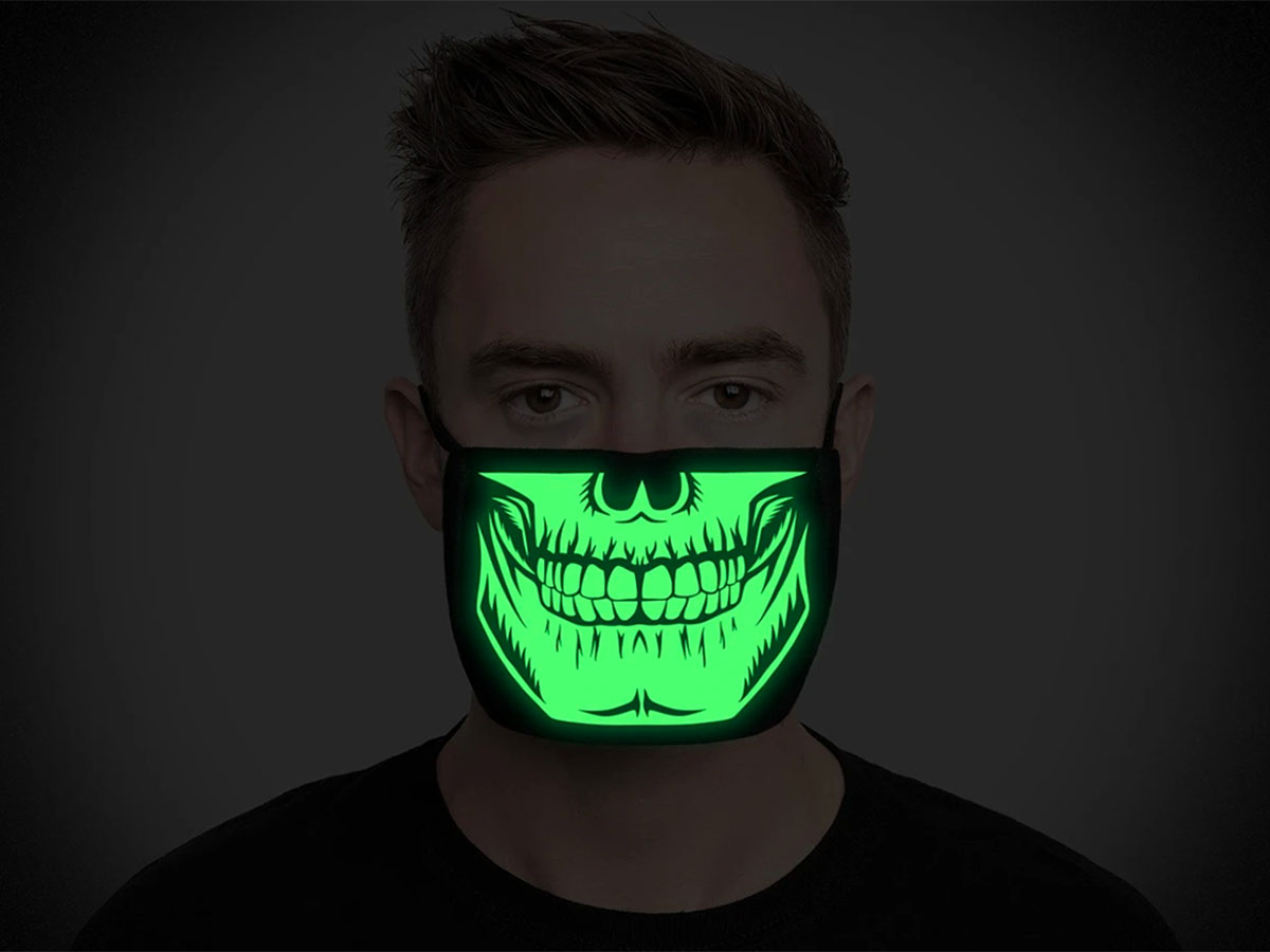 This awesome glow-in-the-dark mask