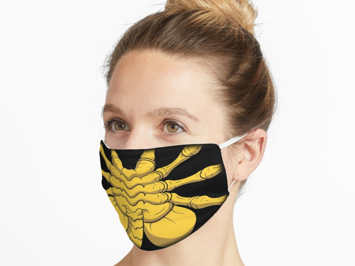 This Alien-inspired face mask