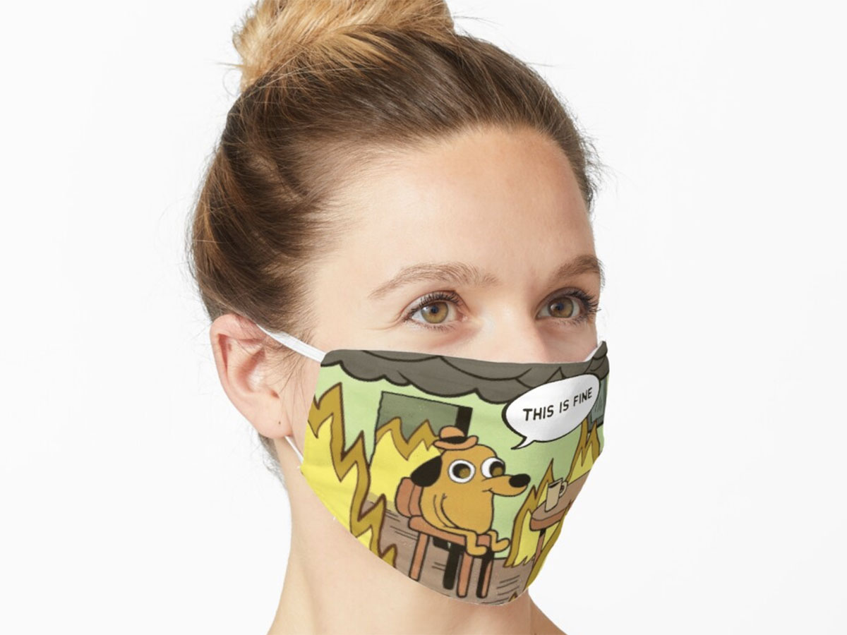 This mask that really makes a statement 🔥🔥