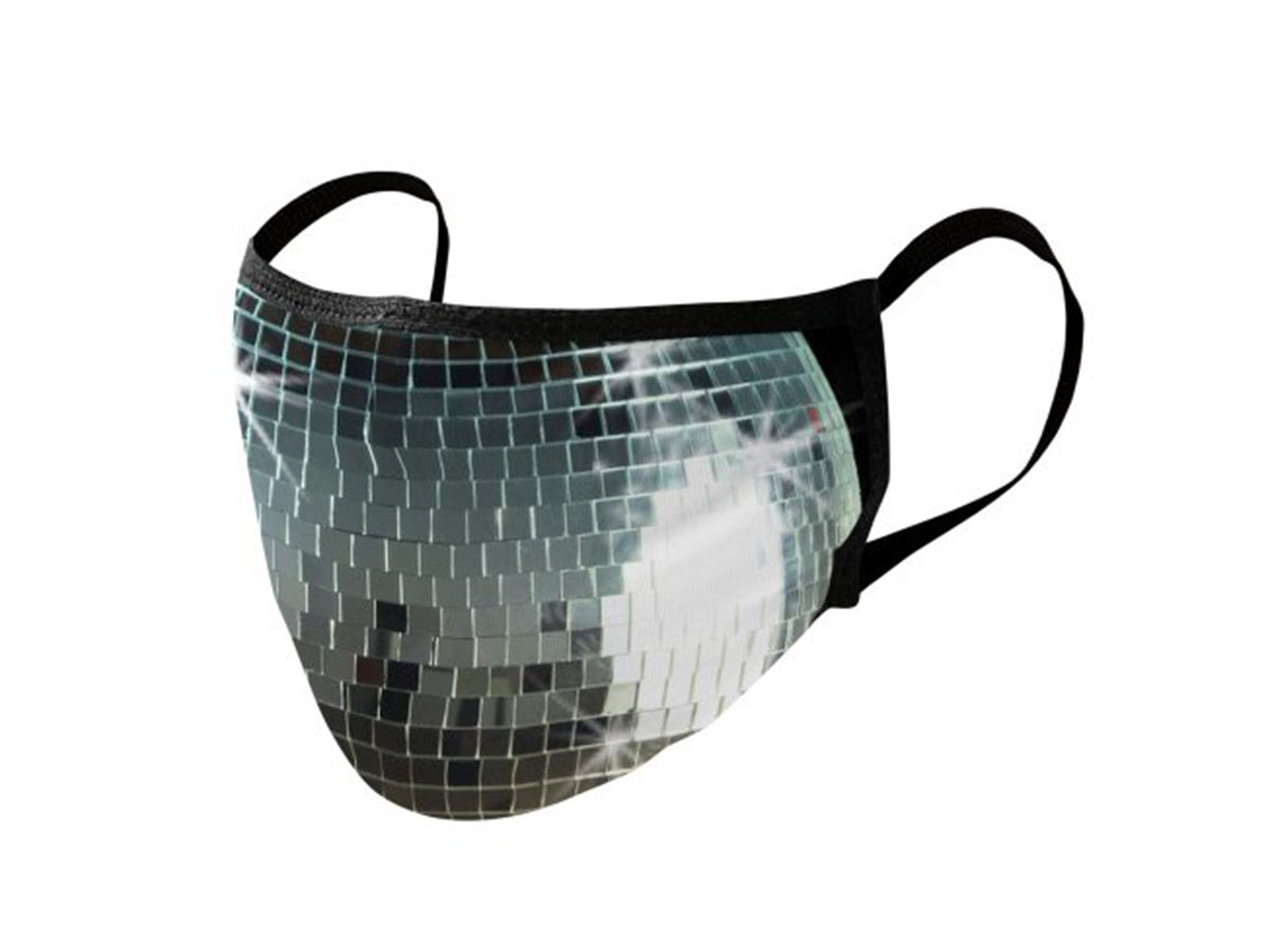 This disco mask that'll help with Stayin' Alive